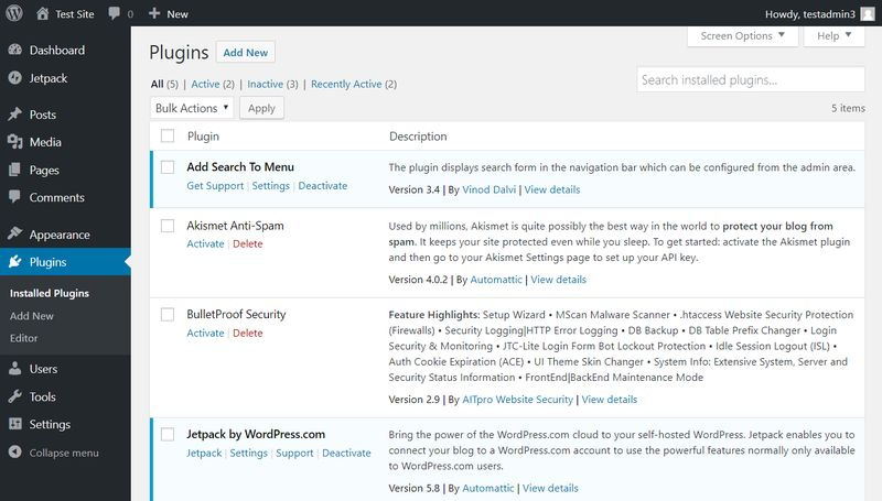 Eliminar plugins de WordPress